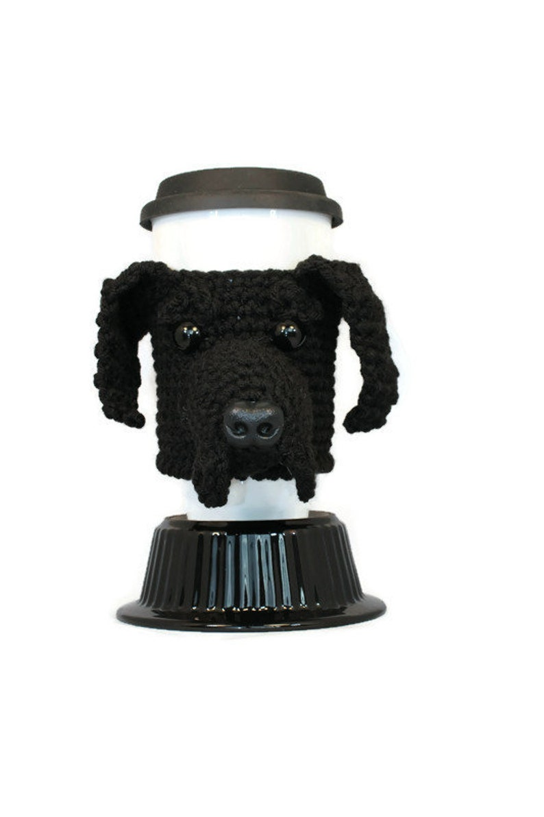 Black Lab Mug Cozy dog coffee cozy wine holder mug wrap image 0