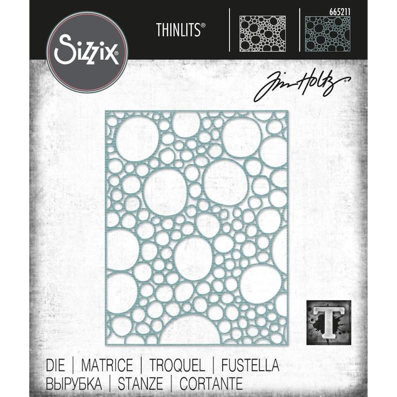 Sizzix Chapter 1 Bubbles Bubble Tim Holtz Bubbling Thinlits Die 665211