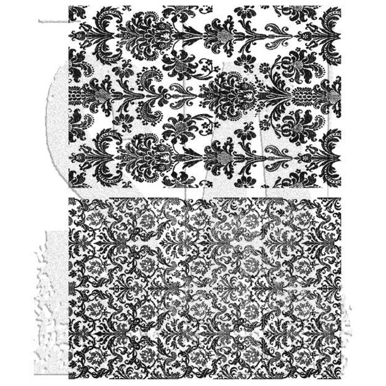 Tim Holtz Cling Mount Stamps PRE-ORDER Tapestry CMS414 Ornate Flourish Wallpaper