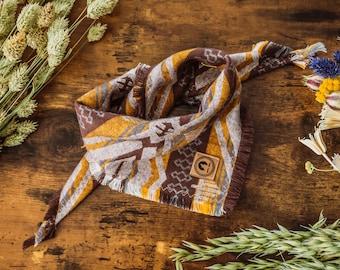 "Dog Collar Aztek ""Petah"" Bandana for Dogs Handmade"