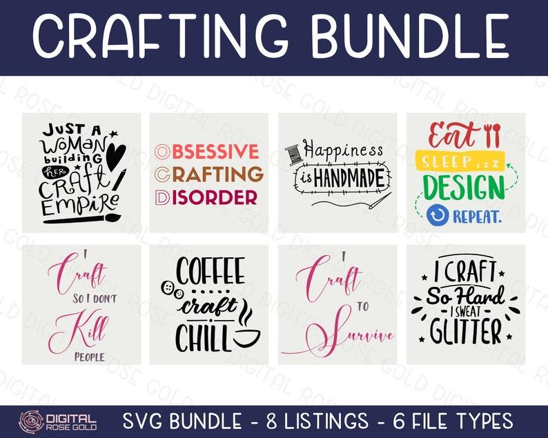 Crafting Bundle  SVG BUNDLE  Craft Room SVG Decor Cricut & image 0