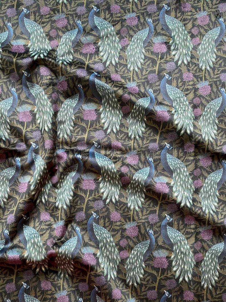 Dark Peacock Velvet Fabric