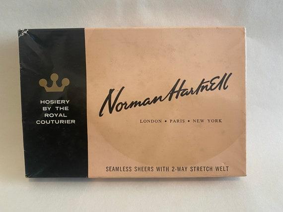 Retro Vintage Norman Hartnell Hosiery Seamless Nyl