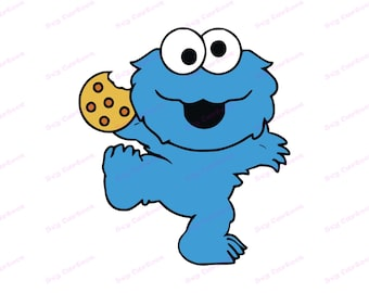 Cookie Monster SVG, svg, dxf, Cricut, Silhouette Cut File, Instant Download