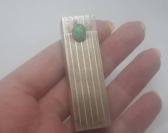True Art Deco solid silver vanity lipstick holder