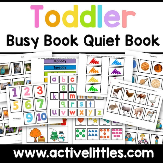 Toddler Early Learning Binder Busy Book