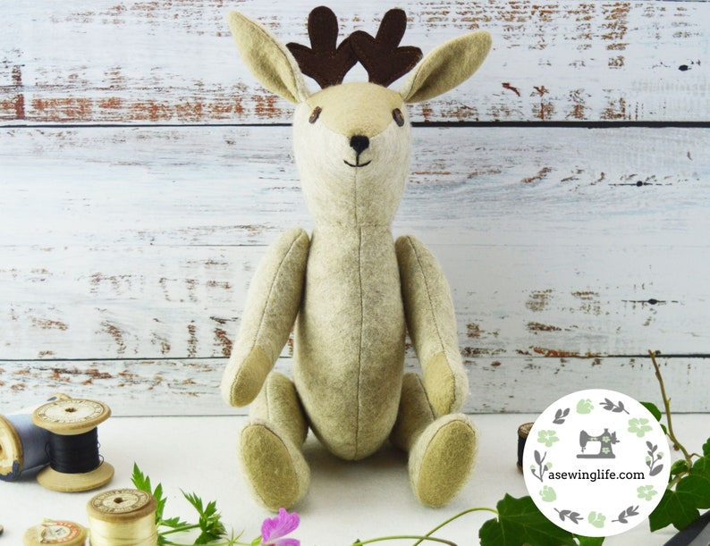 Deer memory bear pattern.Build a bear /& get craftily creative A plushie pattern deer sewing pattern to make a treasured family teddy bear