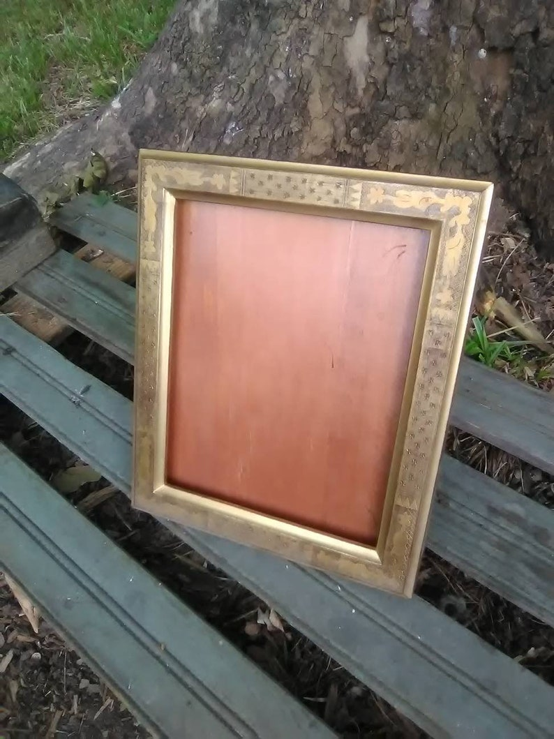 Tabletop Frame Gallery Wall Vintage Style Ornate GoldWood 8x10 Frame- Upcycled Frame- Wedding Table Number Bridal,Signs