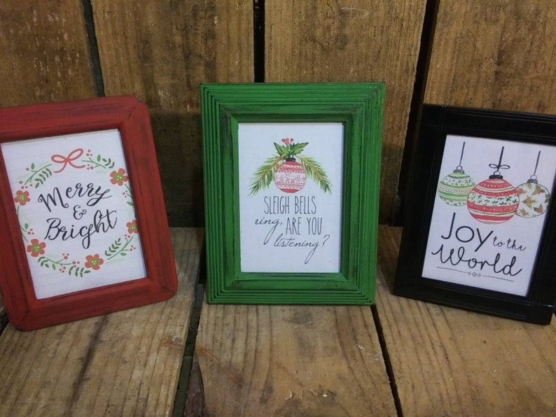 Christmas Gift Teacher Gift Christmas Decor- 3 12 x 5 or  4x6 Frame CoWorker Gift,Frame Set,Ornate Frame Mix Rustic Holiday Decorations
