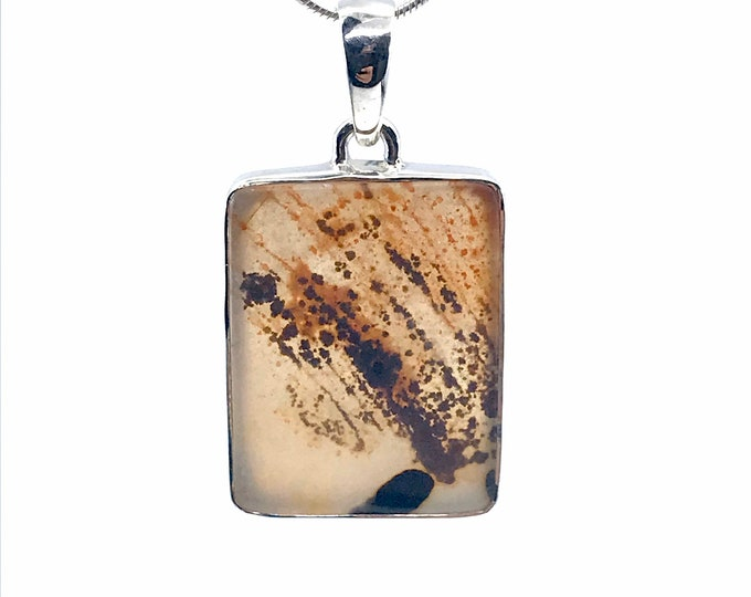 Gorgeous Scenic Agate pendant one of a kind silver pendant fine jewelry scenic agate meaning casual wear,agate pendant,pendant gift