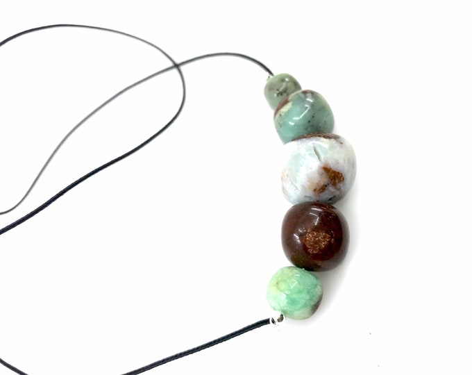 "Chrysoprase 22"" necklace Natural polishes Chrysoprase stone Chrysoprase jewelry fine jewelry gift for mom Healing crystals Reiki jewelry"