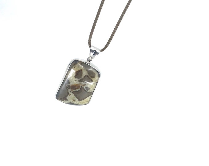 Septarian necklace adjustable  healing necklace  crystal for relaxation crystal jewelry  stress crystal  crystal for anxiety,reiki jewelry ,