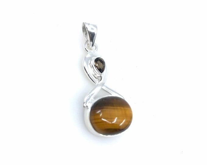 Tiger eye silver pendant fine jewelry tiger eye stone elegant necklace tiger eye meaning creativity stone,polished stone,tiger eye uses.