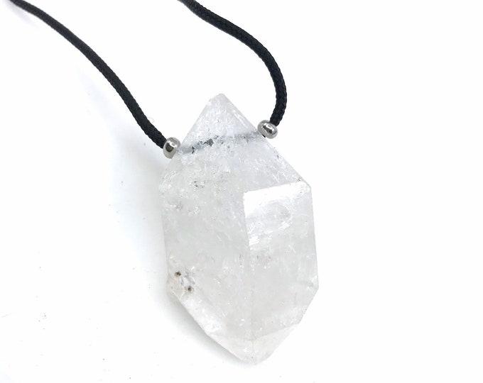HUGE Herkimer diamond pendant necklace Herkimer necklace Herkimer jewelry Herkimer crystal Healing crystals Herkimer gift Herkimer rock