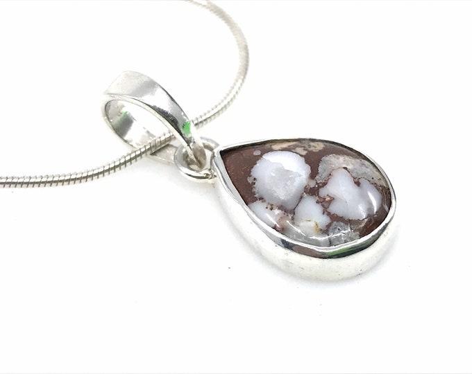 Wild Horse stone pendant  crystal pendant  silver pendant  brown pendant  natural stone  wild horse jasper, horse,wild horse jewelry