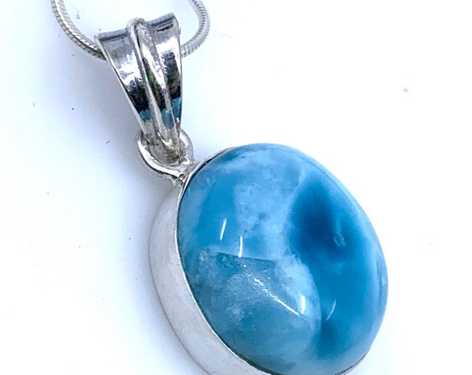 Larimar pendant silver larimar crystal, larimar meaning, crystal larimar, raw larimar, larimar pendant, larimar necklace, reiki jewelry,