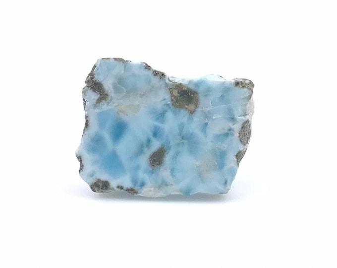 Larimar slab Larimar gemstone Crystal Healing Larimar jewelry Tranquility stone Dominican Larimar Reiki healing Palm stone