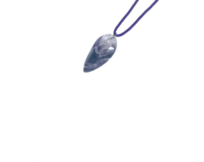 Adjustable Amethyst  cord necklace  amethyst jewelry  his hers gift  healing crystal  February stone  amethyst meaning, crystal meaning,