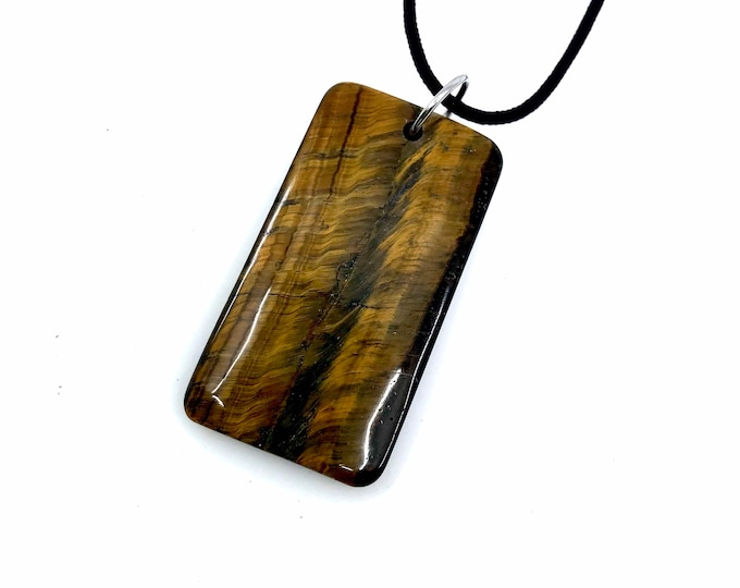 Tiger Eye Necklace adjustable necklace  cord necklace  tiger eye necklace  Healing crystals, tiger eye jewelry, gift for mom day pendant
