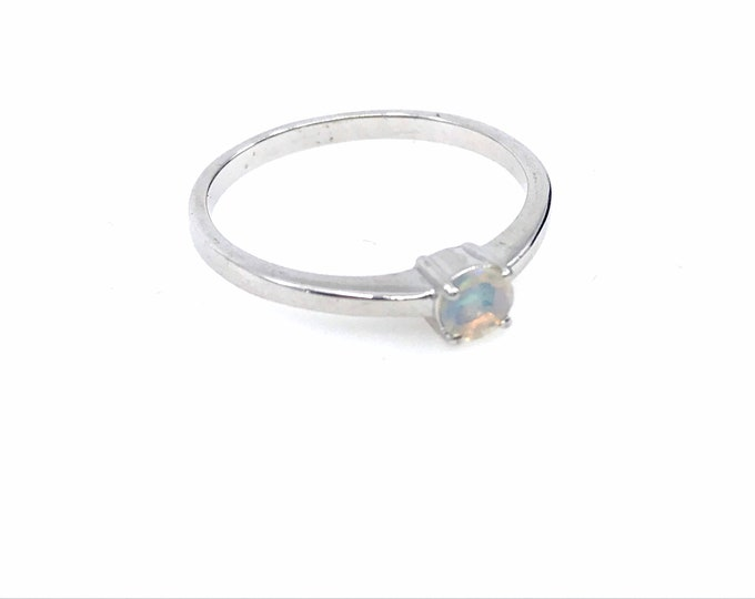 Opal ring size (almost) 8 silver ring Ethiopian opal ring fine jewelry opal jewelry,dainty ring,engagement ring,promise ring,ring for hers