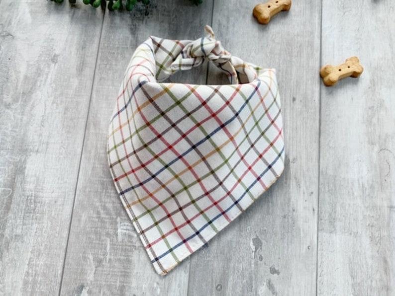 MediumLarge Plaid Dog Bandana dog bandana tie bandana pet neckwear dog outfit pet accessory