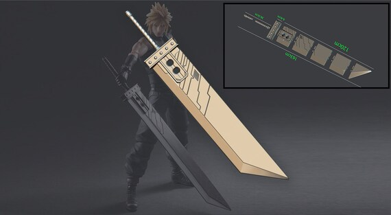 Buster Sword Cloud Final Fantasy Vii 3d Print Model Digital Stl File