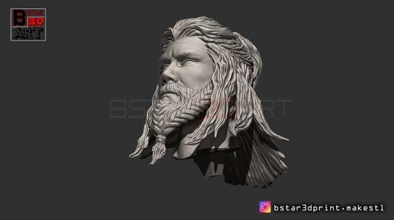 Thor Long Beard Bust Avenger 4 Bust Infinity War Endgame Marvel 3d Print Model Stl File