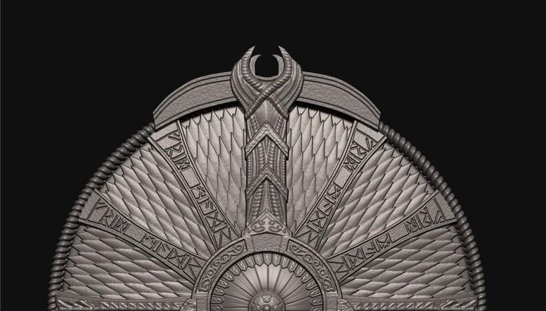 digital STL file Guardian Shield God of War 2018 3D print Shield of Kratos