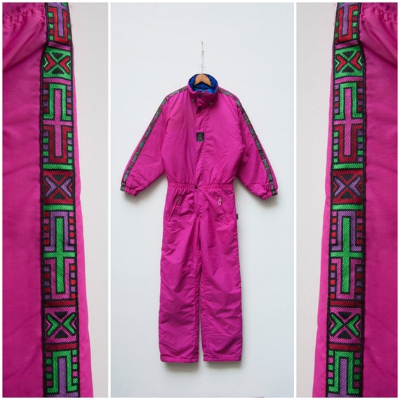 80s Ski Suit Women Small One Piece Ski Suit Retro