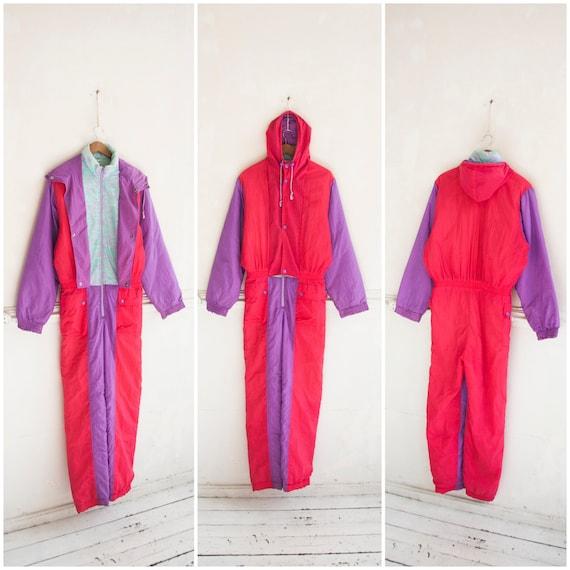 80s Ski Suit Women XXS One Piece Ski Suit Retro Sn