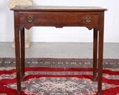 Antique George III Oak Writing Table 18th Century Country Georgian Desk