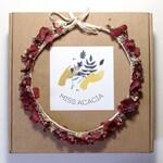 Wood Strawberry-stabilized flower wreath