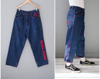 45d83528 Vintage Karl Kani Jeans 33 90s Karl Kani Pants Mens M Hip Hop Jeans Karl  Kani Oversize Baggy Jeans Womens L High Waisted Boyfriend Jeans 33