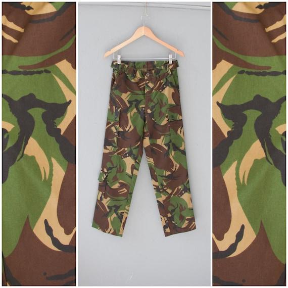 Vintage Army Pants 27 Camo Pants Mens XS Camouflag