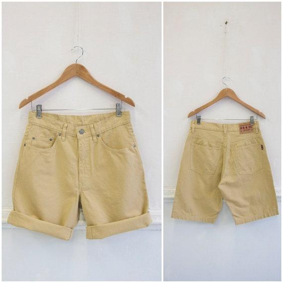 Vintage Mens Shorts 30 Light Linen Shorts Mens S M