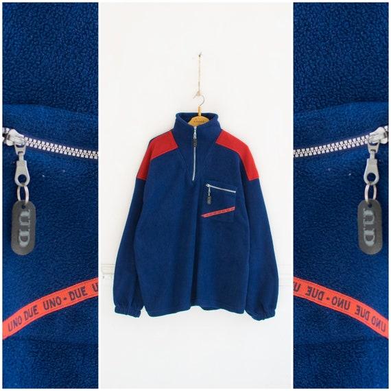 Vintage Fleece Jacket Mens XL 90s Fleece Jacket Wo