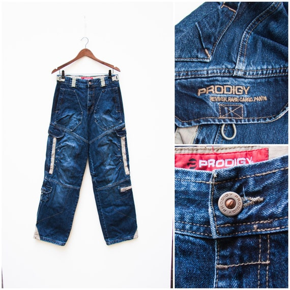 90s Cargo Jeans Men Small Vintage Cargo Jeans High