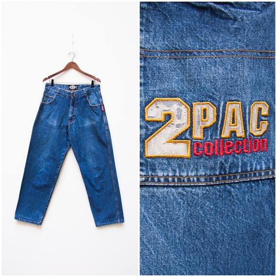 2Pac Jeans 34 Vintage 2Pac Men 90s Hip Hop Jeans 3