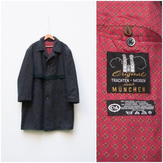 Wool Coat Men Large Loden Coat Men L Oversize Wool