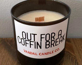 Out For A Coffin Break | Spooky Soy Wax Candle | Gift Ideas