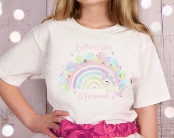 Personalised Rainbow Kids T-shirt Rainbow Top Lockdown Personalised Children/'s T-shirt Customised Kid/'s Tee Kids Custom Rainbow Name Top