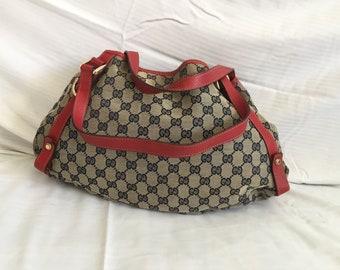 327c43826d Gucci Vintage CanvasTote Bag-livraison gratuite dans le monde entier