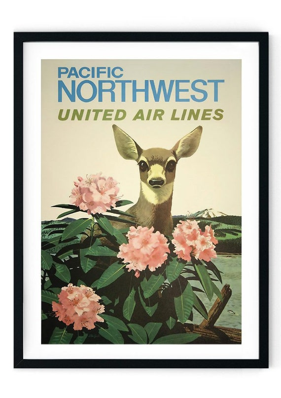 A4 A3 A2 A1 A0| Canada Travel Pacific Vintage Travel Poster Print T532