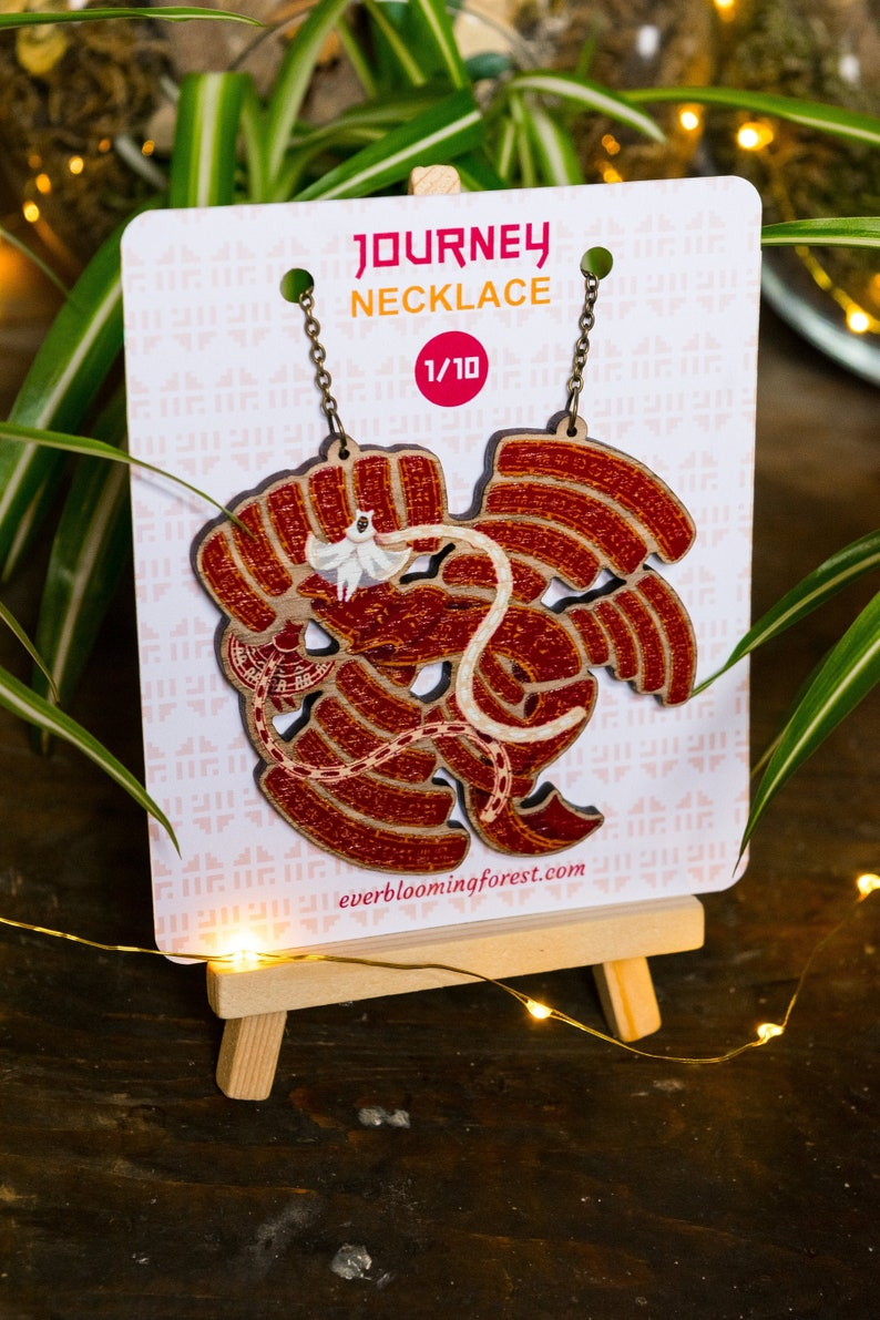 journey travellers with cloth whale necklace  limited unique image 0