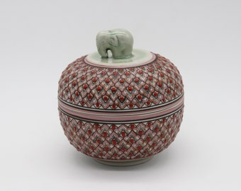 thai art vessel celadon thai ceramics handbemalt