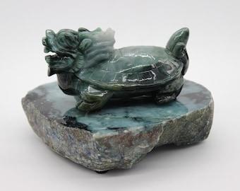 Chinesischer Drache Schildkröte Glücklich Bronze Skulptur Statue Figur Figur T Bronze