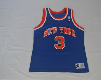 82993bae5 Vintage New York Knicks Champion Jersey John Starks  3 NBA Size  44
