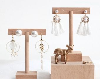 T-Bar Earrings Display Stand, Wood Jewelry Display, Wood Earrings Stand, Earrings Holder, Earrings Organizer
