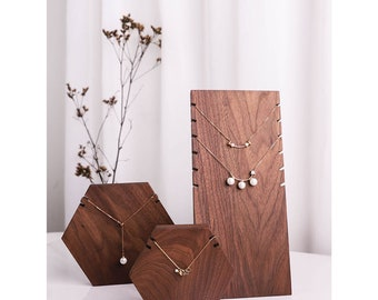 Necklace Display Stand, Wood Jewelry Stand, Wood Necklace Display Holder, Jewelry display for craft show, wood necklace display
