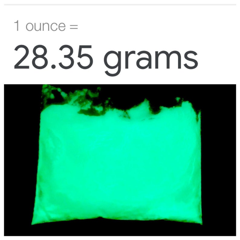 Glow in the Dark yellowgreen pigment powder 1 oz.